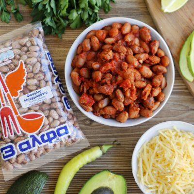 Μεξικάνικο tacos με φασόλια μπαρμπούνια