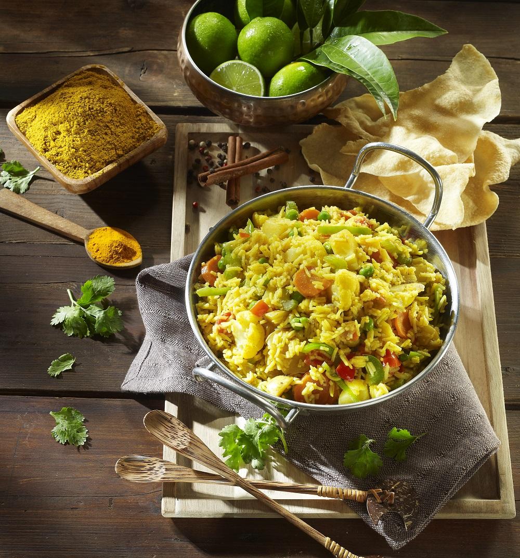 Μπιργιάνι από ρύζι Basmati με λαχανικά