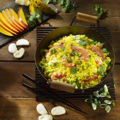 Τηγανιτό Jasmine ρύζι με γαρίδες