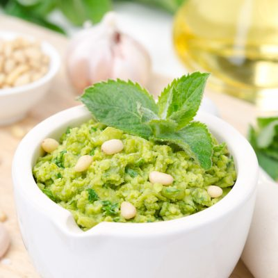 Σάλτσα Πέστο με Πράσινη Φάβα